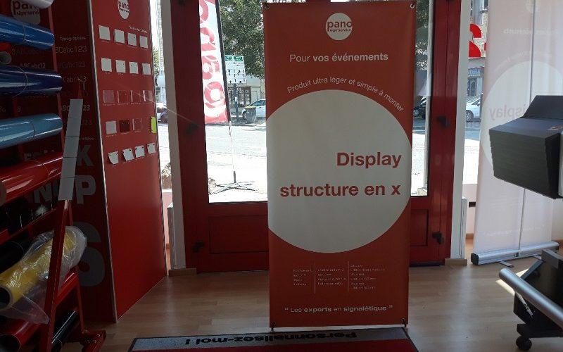 Display structure fixe bâche personnalisable par impression numérique CAEN