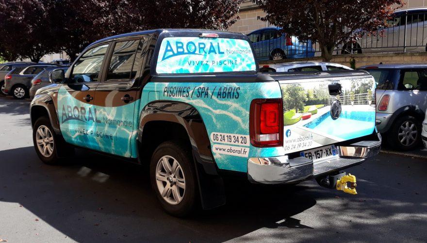 Habillage véhicule semi covering impression numérique CAIRON