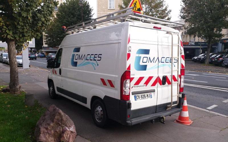 Marquage véhicule professionnel impression numérique du logo Ussy