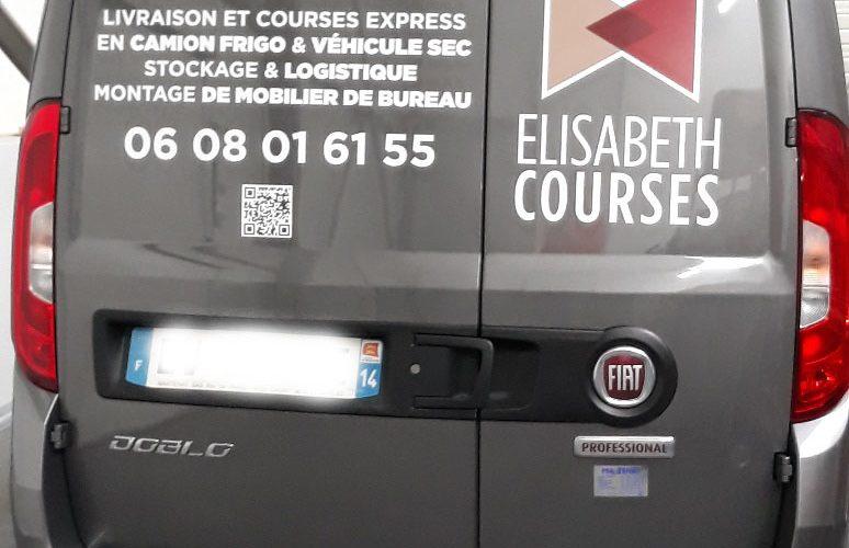Décoration véhicule professionnel avec impression numérique en quadri de la charte graphique, marquage avec lettres découpées en adhésif teinté masse Verson